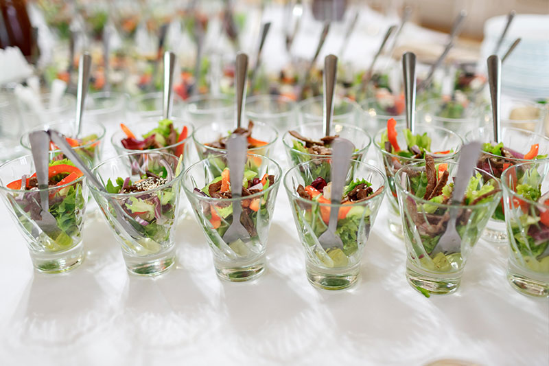 Catering with vegetarian and healthy options